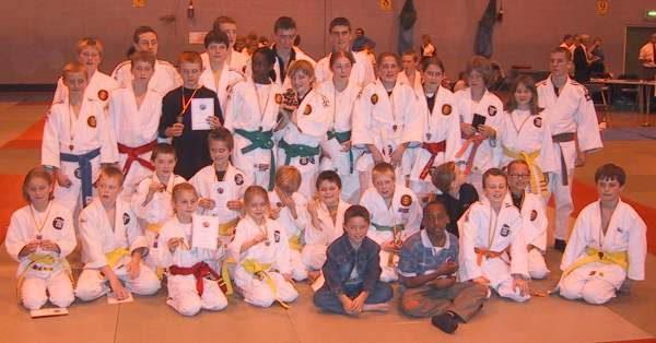 The Pyrford Judo Club winning team