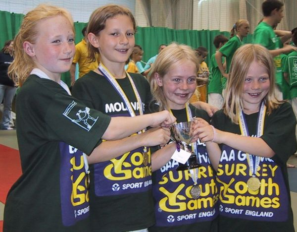 jpeg image of U11 Girls Team winners - Mole Valley