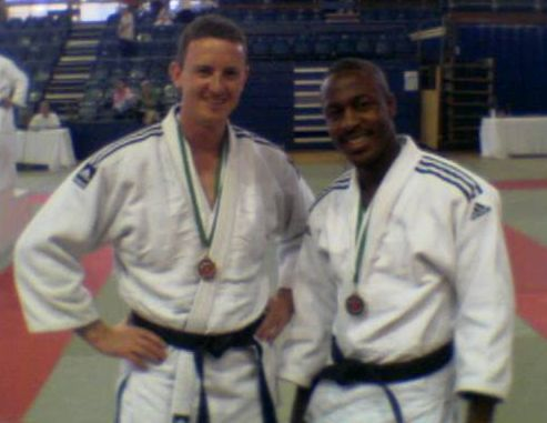 jpeg image of bronze medal winners Paul Marchant & Jerome Purrier Wimbledon JC